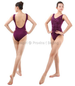 4c7a0f833 Adult Girls Lace Low Back Tank Ballet Dance Gymnastic Bodysuit ...