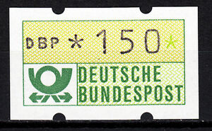 BRD-1981-Automaten-Freim-arke-150er-Postfrisch-gelbe-Gummierung-ohne-Nr-21389