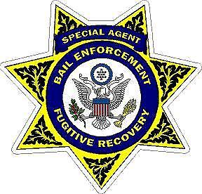 Bail Enforcement Fugitive Recovery Special Agent Reflective Decal Sticker Police