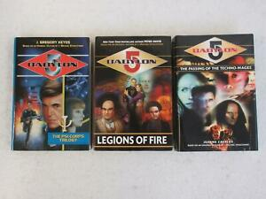Lot-of-3-BABYLON-5-Psi-Corps-Trilogy-Legions-of-Fire-Passing-of-the-Techno-Mages