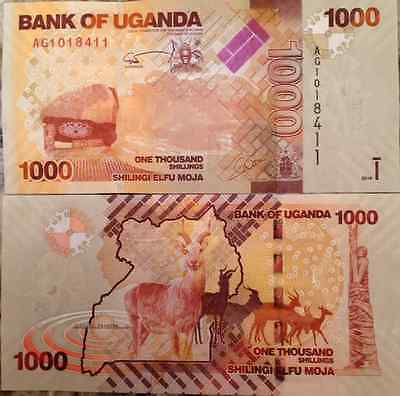 UGANDA 2010 1000 SHILLINGS UNCIRCULATED BANKNOTE P-49 BUY FROM A USA SELLER
