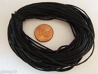 9 mètres fil cordon COTON CIRE NOIR 1mm echeveau  lacet DIY bijoux déco loisirs
