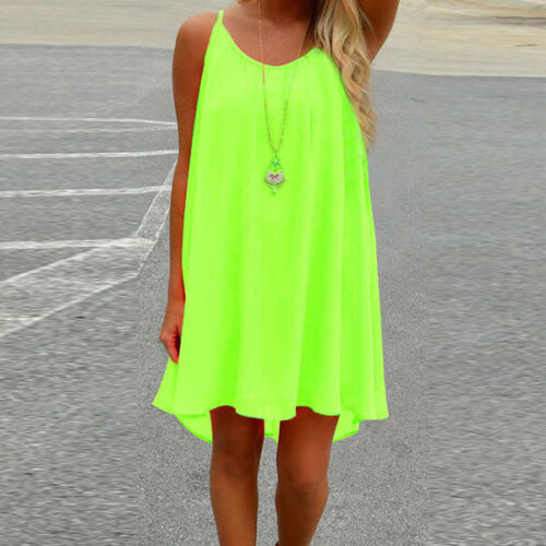 Damen Boho Sommer Strand Minikleider Casual Tops Bikini Vertuschen Beachwear