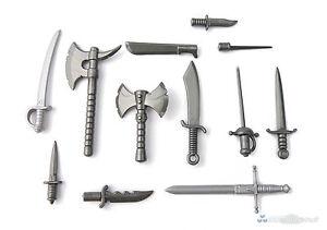 Brickarms Blade Armes Set, Custom épées Sabre Haches Pour Lego ® Personnages-afficher Le Titre D'origine Beau Lustre