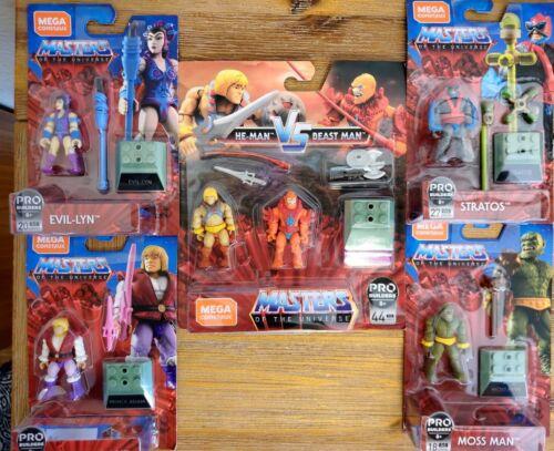 He-Man Masters of the Universe MEGA Construx Mini Figure Set Lot of 6 NEW Prince