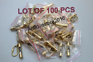 Lot of 100 Brass Sand Timer Key Chains  Mini Hourglass Key Rings