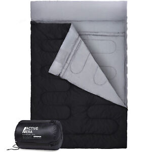 Double-Sleeping-Bag-Extra-Large-Queen-Size-Converts-to-2-Singles-3-Season