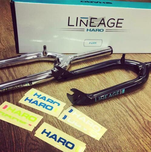 Haro Lineage 990 BMX Forks U-Brake Mounts Black or Chrome w// Vintage stickers