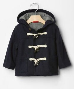 super service forefront of the times many styles Details about GAP Baby Boy Size 0-6 Months NWT Navy Blue Toggle Wool Coat  Jacket Parka w/Hood