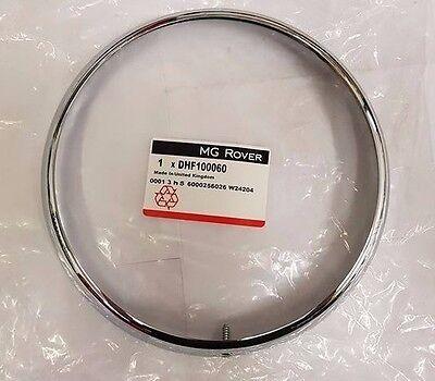 "Classic Mini Headlamp Chrome Outer Rim 17H5143 headlight 7/"" 1959-1996 NOT MPi"