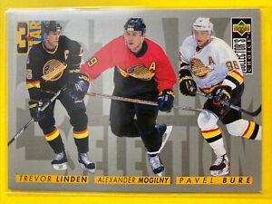 1996-97 UD Collector's Choice 3 Star #333 Alexander Mogilny Pavel Bure Canucks