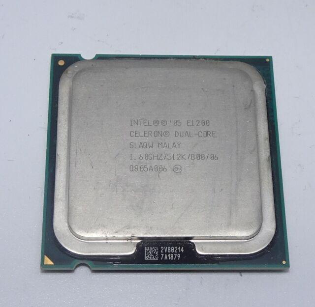 800MHz FSB 1.6 GHz 512K L2 Cache Intel Celeron E1200 Dual-Core Processor LGA775