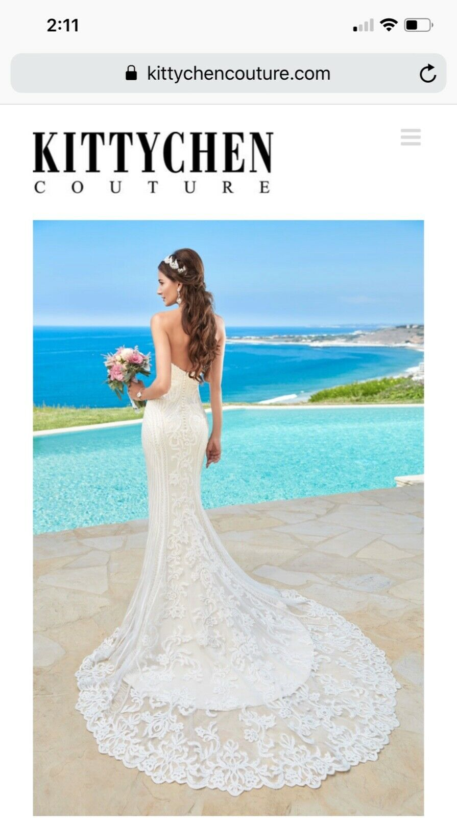 """Kitty Chen Couture """"Alvina"""" Wedding Gown  - image 3"""