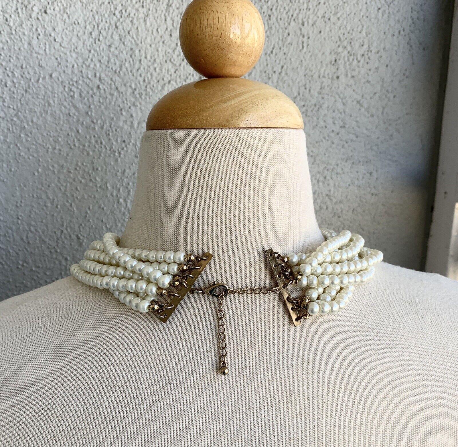 Vintage Faux Pearl Necklace  - image 3