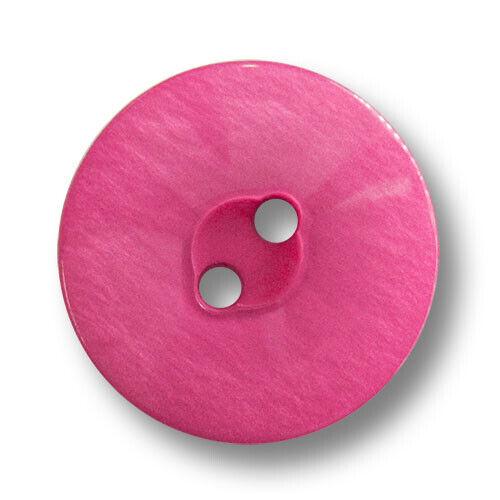 5867pi-20mm 6 pink schimmernde Zweiloch Kunststoffknöpfe in Perlmuttoptik
