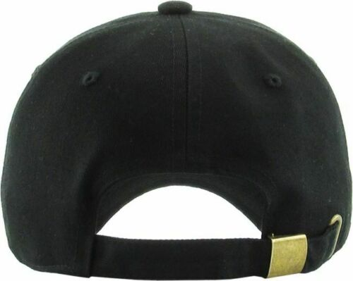 Size New! Kids Black Low Profile Baseball Cap Hat Toddler /& Jr