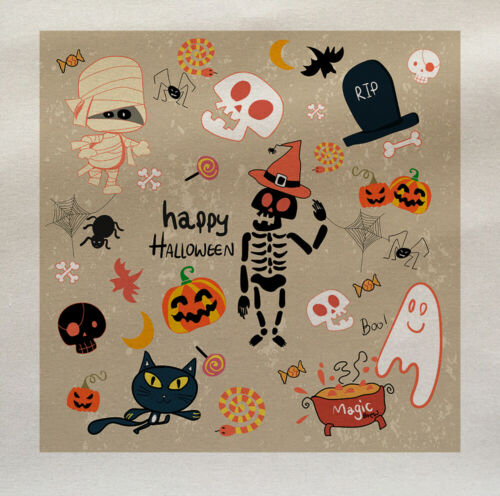 Happy Halloween Kids Fabric Cotton Upholstery Quilting Custom Craft 475123