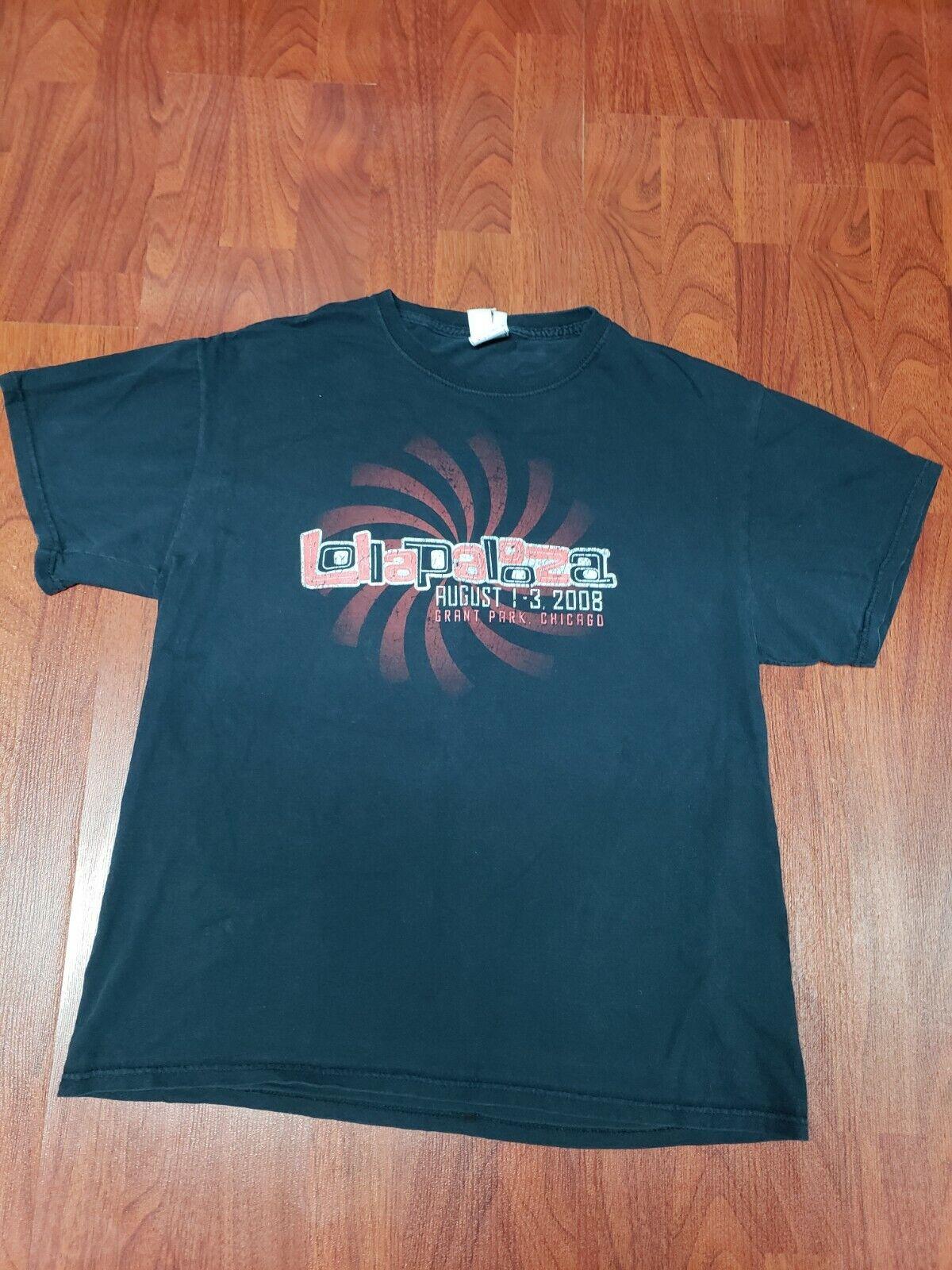 Lollapalooza T-Shirt 2008 Radiohead Rage Against … - image 2