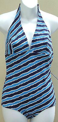 Vintage halter neck swimming costume size 12 1960s 1970s UNUSED Palmers swimsuit