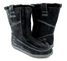Timberland Shoes Mukluk Moc P/O Suede/Fur Black Boots Womens 7.5 EUR 38.5