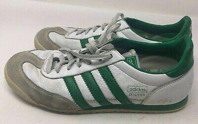Adidas White / Green Dragon 3 Stripe Athletic Running Shoes Men's Size 8 Retro   eBay