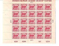 US STAMPS #630 INTERNATIONAL PHILATELIC ISSUE 1926 MINT SHEET M/NH SCV $600.00