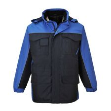 black or royal blue lined parka coat size XS-3XL PORTWEST S562 RipStop navy