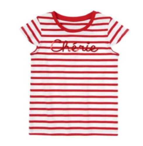 NWT Gymboree Parisian Afternoon Red Striped Cherie Top Size 4 7 /& 8