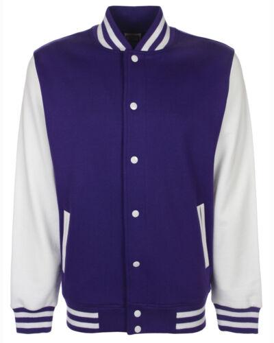 FDM /'Princeton/' Unisex Varsity Jacket Adult College Baseball Zipped Top