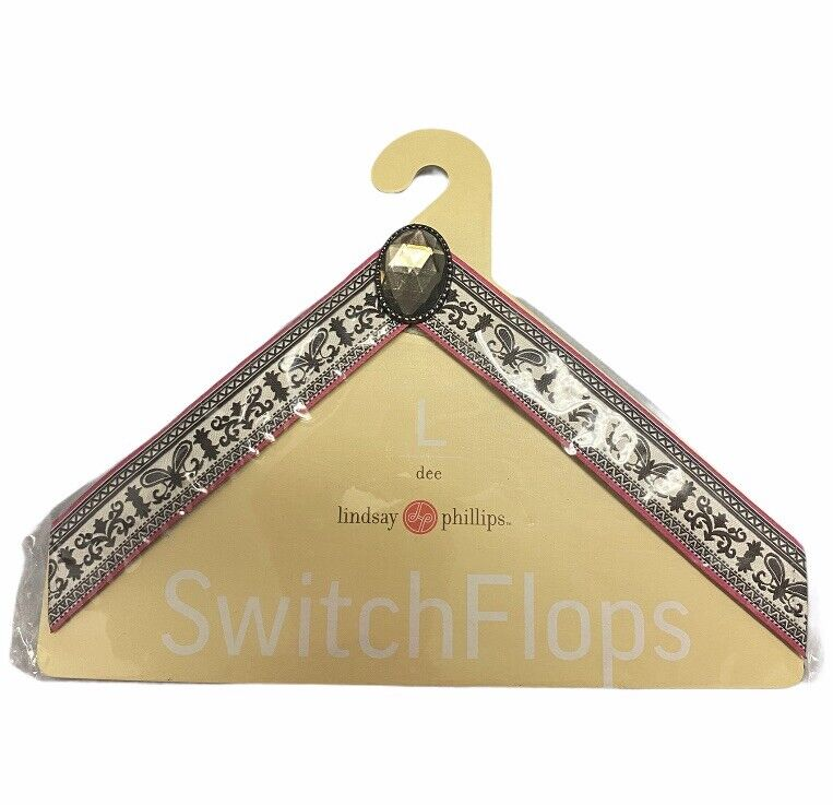 NWT Lindsay Phillips Dee Switch Flops Size Large For Exchangeable Flip Flop Shoe