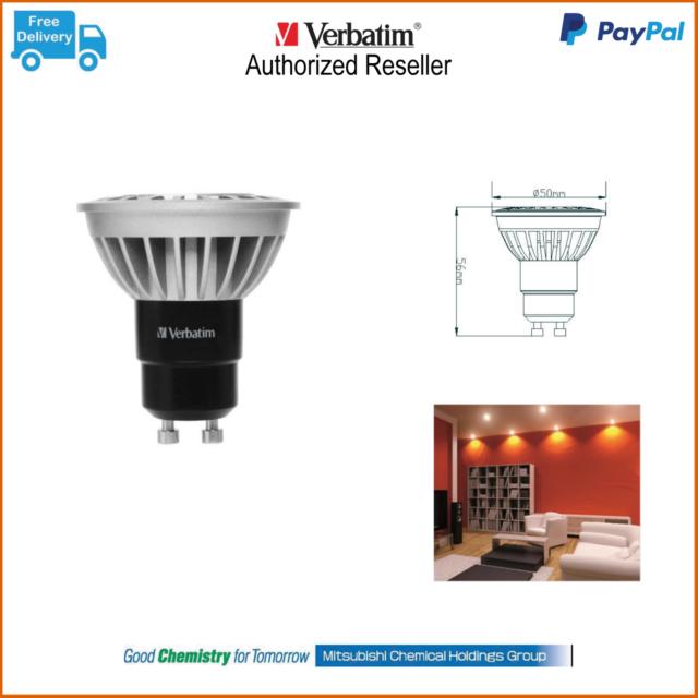 Carton lot 10 x Verbatim LED Downlight Globe VXR PAR16 GU10 8 5W 750lm CW  64657