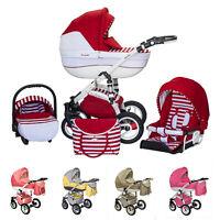 Baby Pram Stroller Buggy Pushchair Evado Wiejar Travel System 3in1 Swivel Wheels