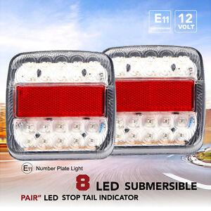 2PCS-de-feux-Remorque-Bord-LED-Arriere-Frein-Indicateur-Stop-caravane-12v