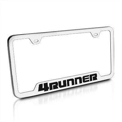 4Runner 4 RUNNER Laser Style Black Stainless Steel License Plate Frame W//Caps
