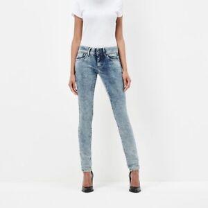 C4903 Star l32 Mi Lynn W28 Jeans Femmes Moulant Taille G Ref PvqRv