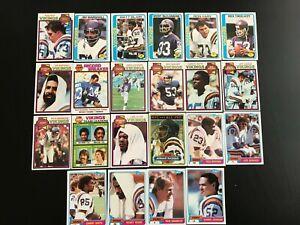 Lot-22-cards-nfl-minnesota-vikings-topps-1978-to-1981-american-football