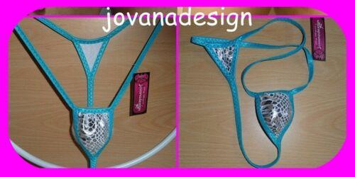 Jovanadesign Nano Extreme Micro String da Uomo Argento Serpente ologramma//LT Turchese