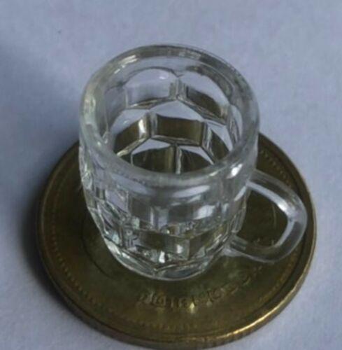 Escala 1:12 de plástico con hoyuelos Stein cerveza Taza tumdee Casa de Muñecas en Miniatura Jarra
