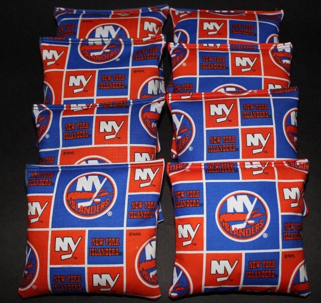 NEW YORK ISLANDERS CORNHOLE BEAN BAGS 8 ACA REGULATION NHL FAN GIFTS