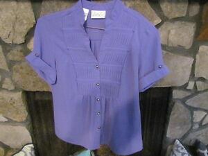 951fdbb2718 Details about Women's Blouse Size S Medium Purple Color Cute Style Kathy  Che Brand