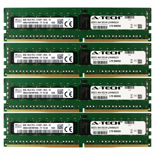 PC4-17000 Hynix 32GB Kit 4x 8GB Dell PowerEdge R730xd R730 R630 T630 Memory RAM