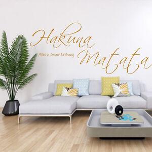 Wandtattoo hakuna matata afrikanischer spruch wohnzimmer for Dekoration wohnzimmer ebay