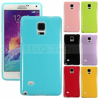 ※Glossy Soft ※ Flexible Slim TPU Jelly Silicone Back Case Cover For Cell Phone