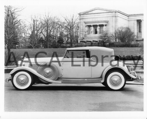 Ref. #53202 1933 Lincoln KB Brunn Convertible Victoria Factory Photo Picture