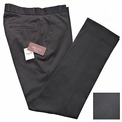 Mens BLACK STA PRESS Trousers By Relco NEW Size 30 - 40 Mod Skinhead Prest Retro