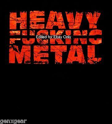 HEAVY F#CKING METAL SHIRT heavy metal fans L@@K MED new