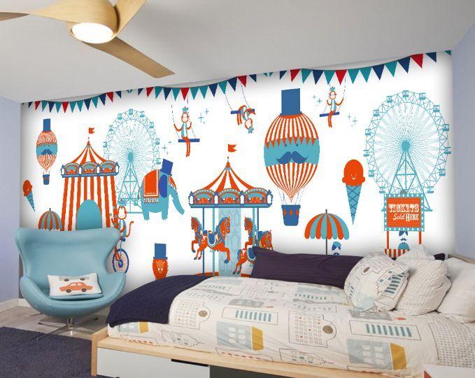 3D Amusement Park 3 Photo Papier Peint en Autocollant Murale Plafond Chambre Art