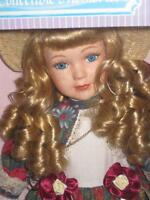 Collectible Memories Victorian Girl Porcelain 15inch Doll Exclusive Limited