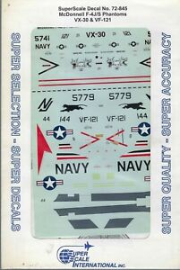 McDonnell F-4J/S Phantoms VX-30 & VF-121 1/72 Superscale 72-845