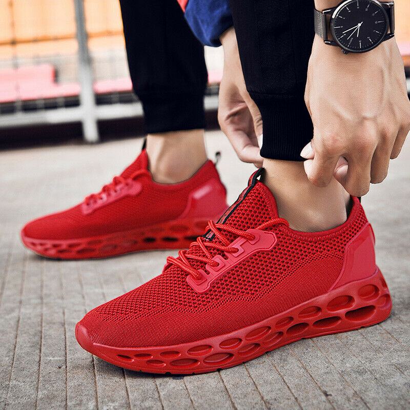 Lace-Up Style Comfortable Light Sneakers Casual Breathable Youth Men Footwear